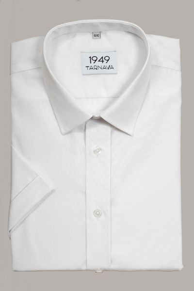 SHORT SLEVEE WHITE MEN SHIRT
