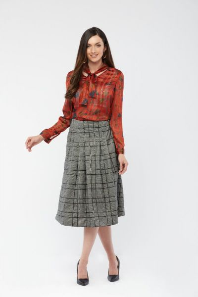CHECK WOMEN SKIRT