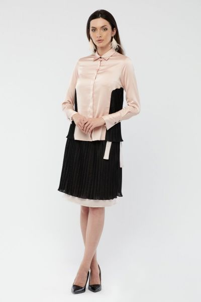 BLACK WITH PINK WOMEN SKIRT