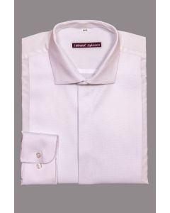 REGULAR FITTED WHITE SHIRT WITH LONG SLEEVES