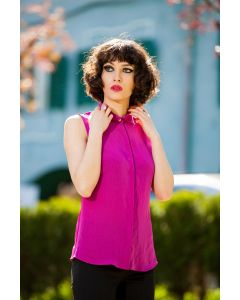 Sleeveless blouse 415605-15/2625fuchsia