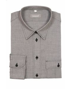 SLIM FITTED SHIRT 415349-10-1927GREY