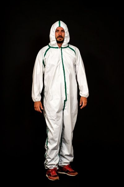HOODED LAMINATED PROTECTION COVERALL