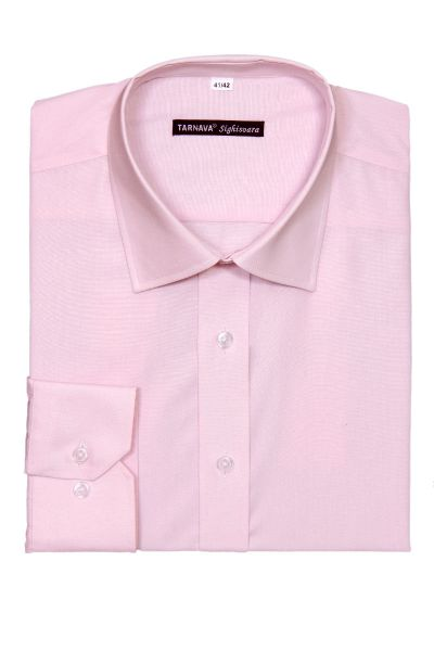 SLIM FITTED PINK SHIRT WITH LONG SLEEVES