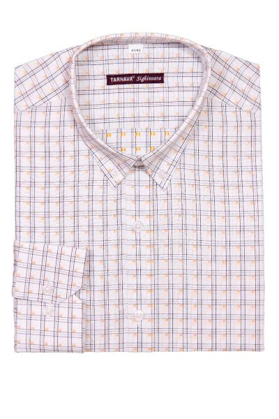 SLIM FITTED CHECKED SHIRT WITH LONG SLEEVES