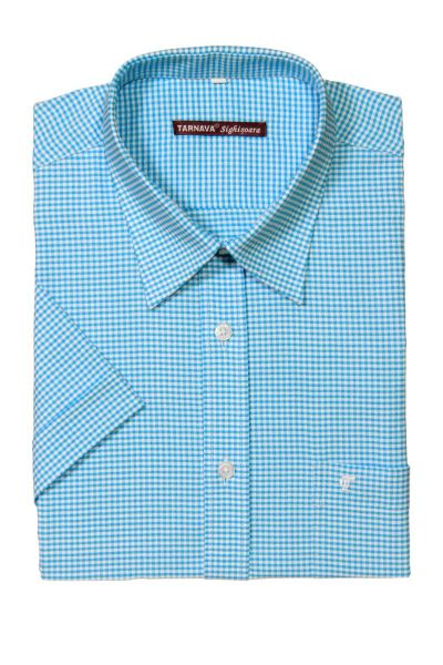 CHECKED TURQUOISE SHIRT  415697-14-2525