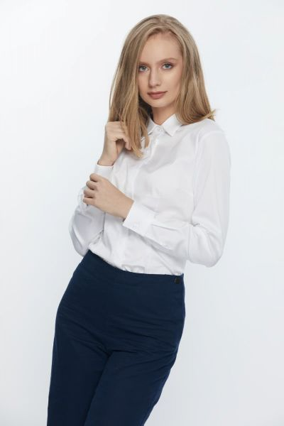 WHITE LONG SLEEVE WOMEN BLOUSE