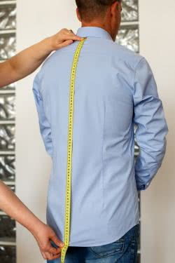 men measures back