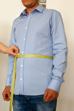 Taking measures for a made to measure blouse